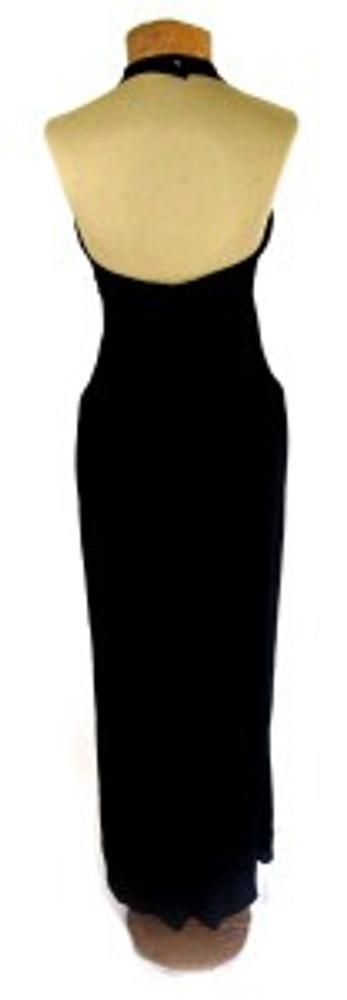 Chloe Black Silk Jersey Maxi Halter Dress