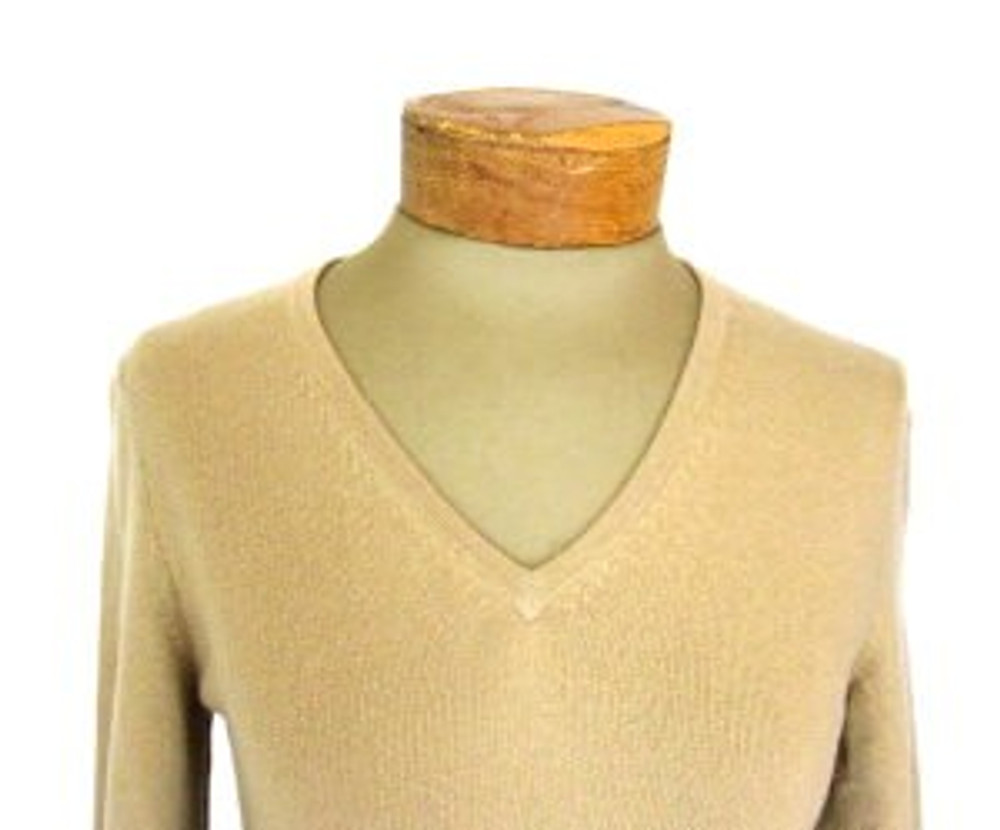 TSE Tan Cashmere V Neck Sweater