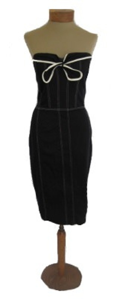 Betsey Johnson Black Corset Style Dress