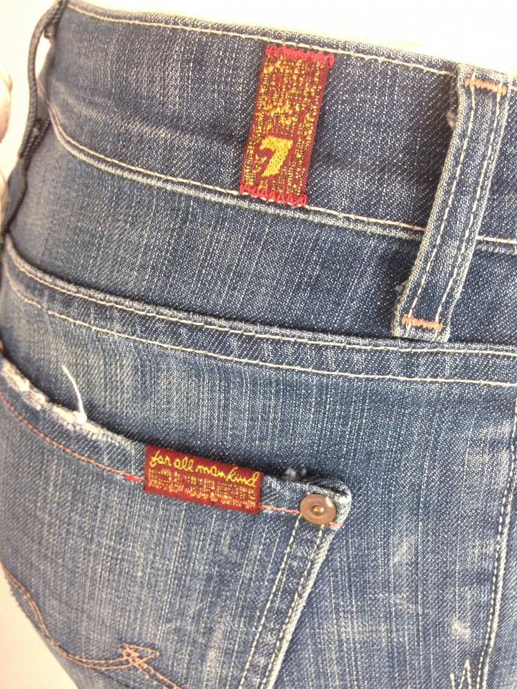 7 for all Mankind Medium Wash Boy Cut Jeans