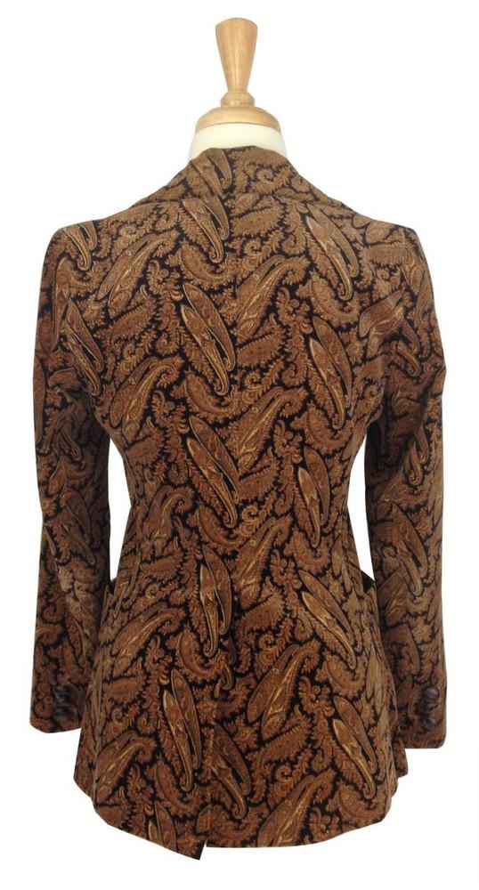 Vintage 1970s Velvet Paisley Jacket