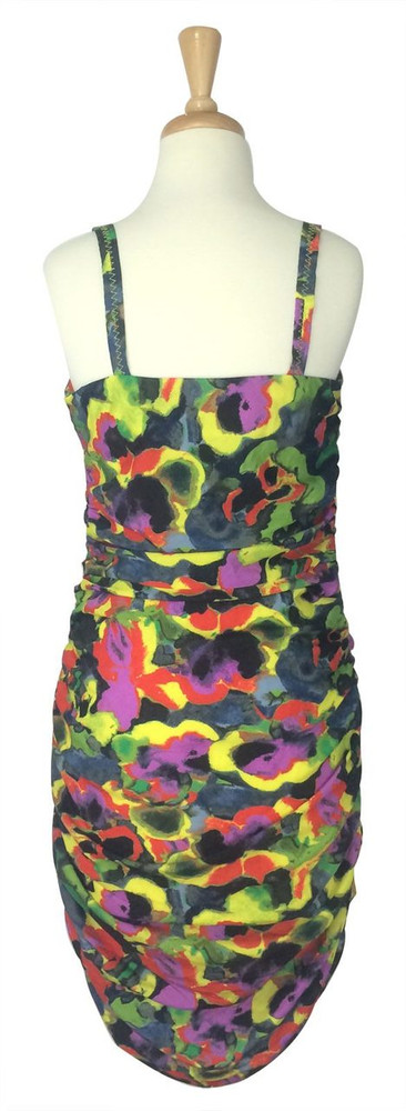 Rachel Roy Ruched Bright Floral Dress