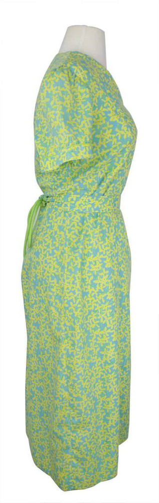 Vintage Lilly Pulitzer 1970s Yellow & Turquoise Dress