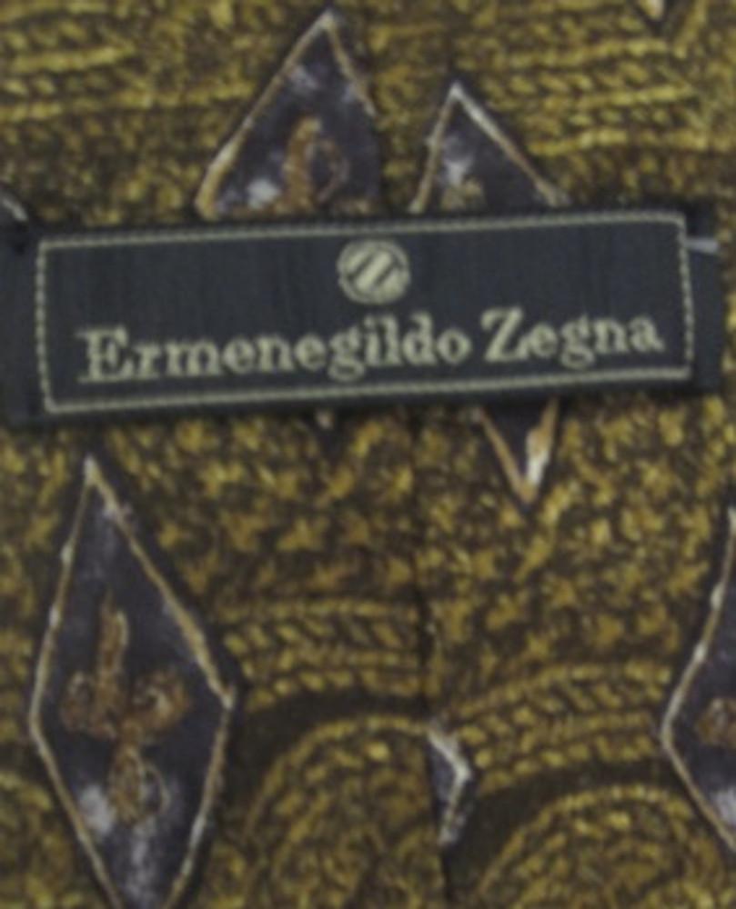 Ermenegildo Zegna Brown Diamond Tie