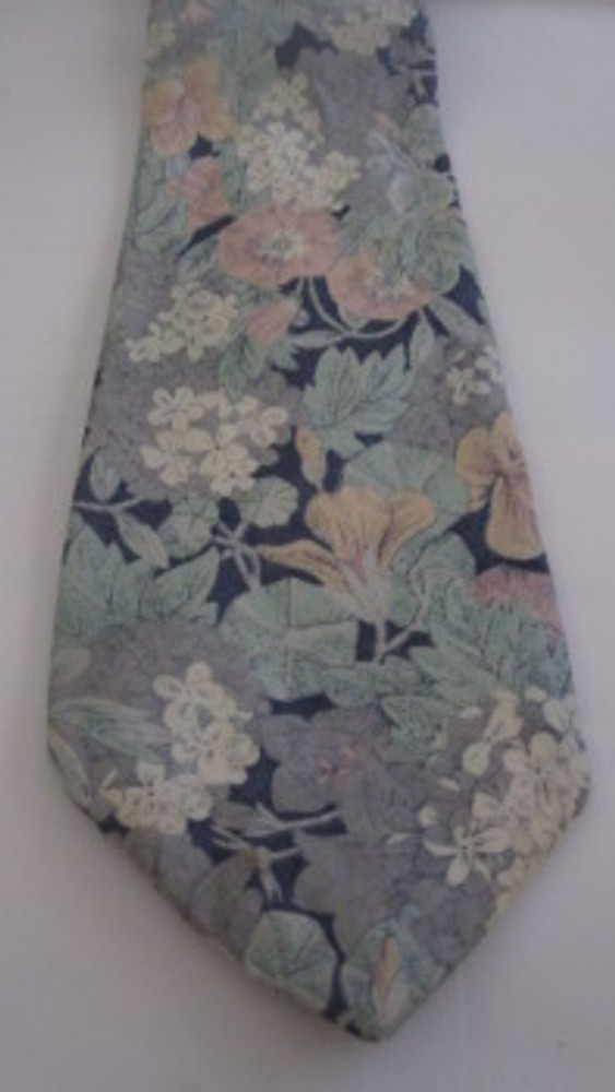 Liberty of London navy, light blue & pink cotton tie
