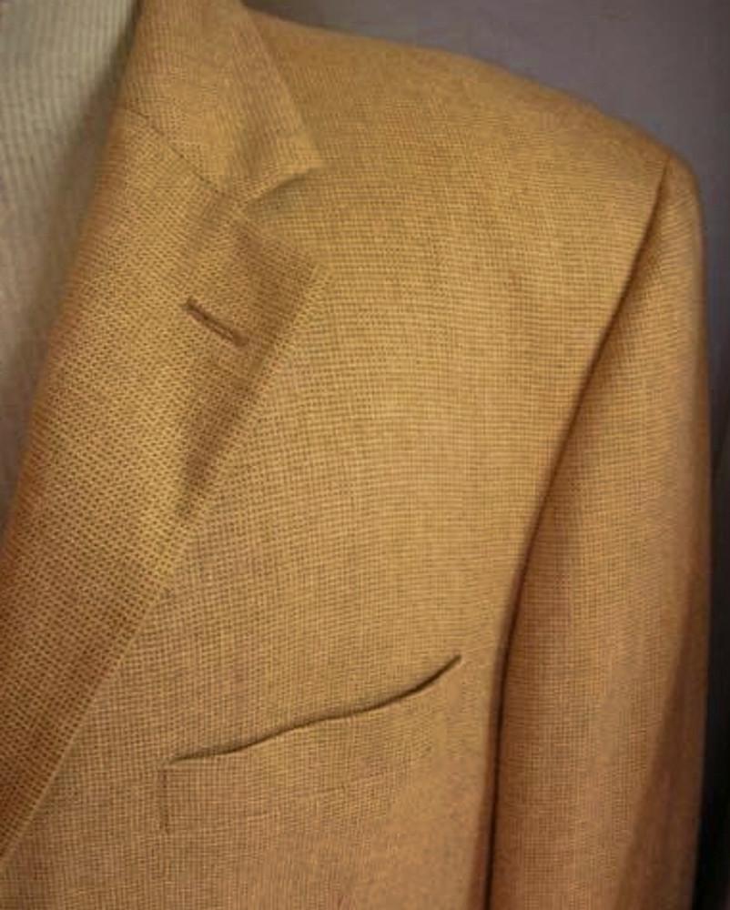 Loro Piana Cashmere Tan Micro-Check Jacket
