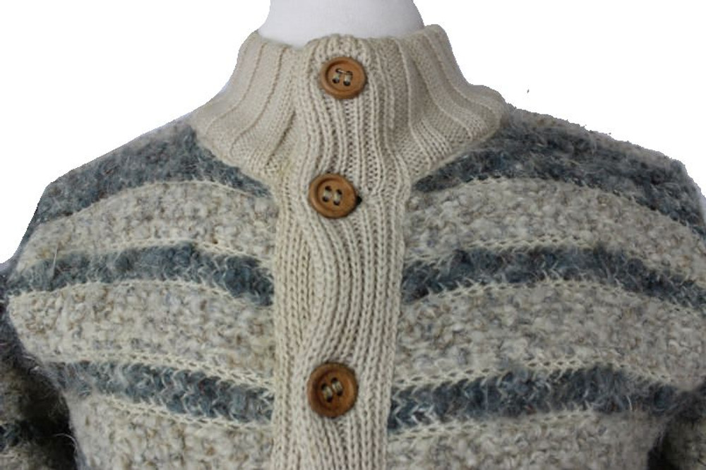 Missoni Gray and Beige Striped Cardigan Sweater Jacket