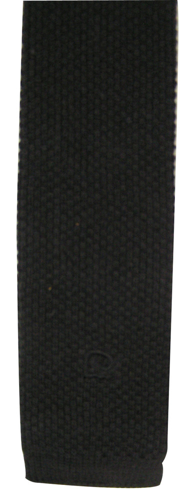 Pierre Cardin Vintage Black Knit Tie with Logo Tip