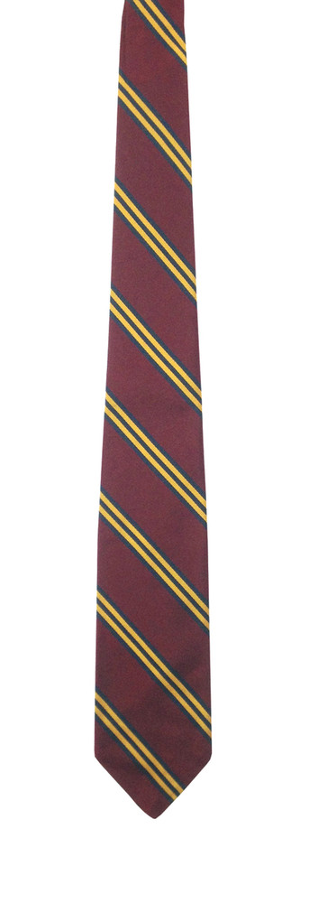 Vintage 1960s Brooks Brothers Maroon, Navy, and Gold Silk Club Tie