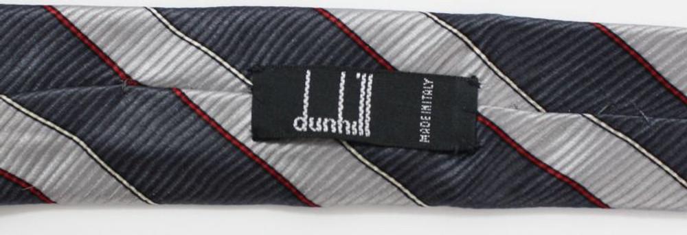 Vintage Dunhill Striped Grey Tie
