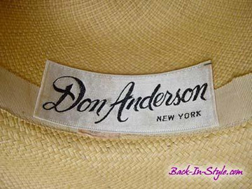 Don Anderson Decorated Panama Hat