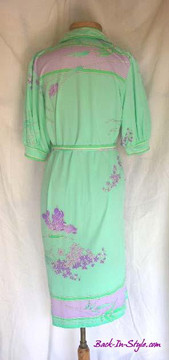 Leonard Mint Green & Purple Belted Jersey Dress