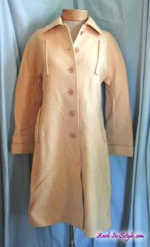 Courreges Tan Wool Mod Coat