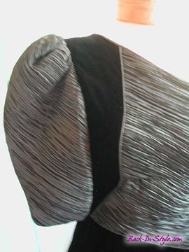 Mary McFadden Black Velvet Asymmetrical Dress
