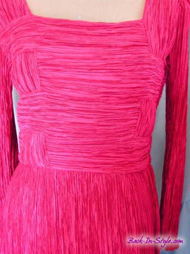 Vintage Mary McFadden Woven Fuchsia Dress
