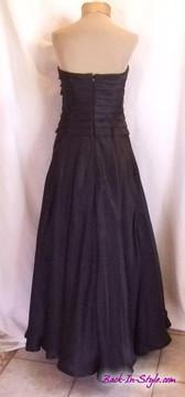 Carmen Marc Valvo Black Strapless Ballgown