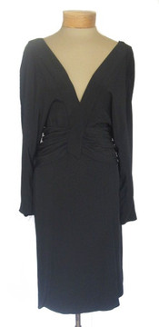 Chloe Vintage 1980s Black Long Sleeved Dress