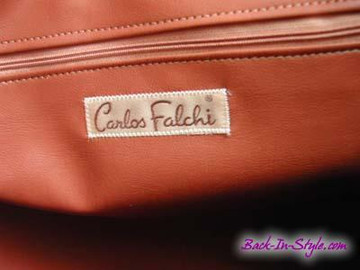 Carlos Falchi Tan Embossed Extra-Large Messenger