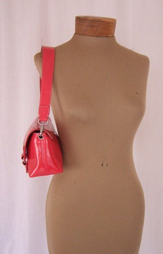 Sigerson Olsen pink patent leather convertible clutch & shoulder bag