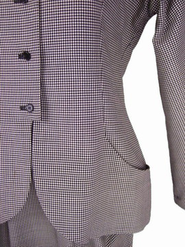 Vintage Geoffrey Beene Black & White Check Skirt Suit