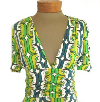 T-Bags Green Link Pattern Dress