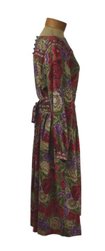 Vintage 1970s Albert Nipon Wool Rose Dress