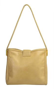 Vintage 1990s Gucci Beige Leather Logo Bag