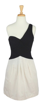 BCBG Max Azria Black & White Asymmetrical Dress