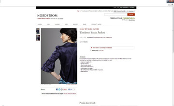 "Marc Jacobs ""Dutchess"" Indigo Satin Rose Jacket"
