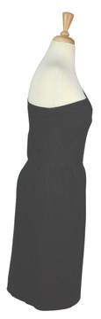 Vintage Valentino Black Linen Asymmetrical Dress