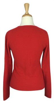 TSE Coral Cashmere V Neck Sweater