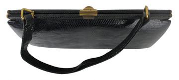 Vintage 1950s Navy Blue Crocodile Handbag