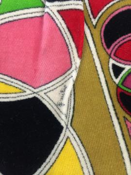 Vintage Emilio Pucci 1960s Velvet Multi-Colored Purse