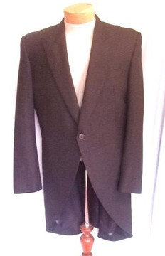Pierre Cardin black cutaway tuxedo jacket