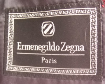 Zegna Navy Blue Pinstripe Blazer