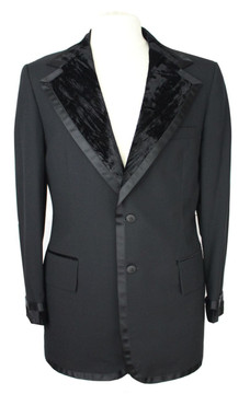 Vintage After Six Tuxedo Jacket with Velvet Lapel