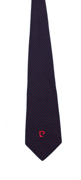 Vintage Pierre Cardin Navy & Red Polka Dot Tie