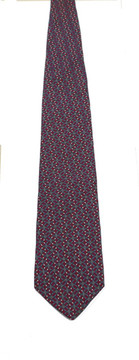 Vintage Bert Pulitzer for Lord & Taylor Gray & Red Tie