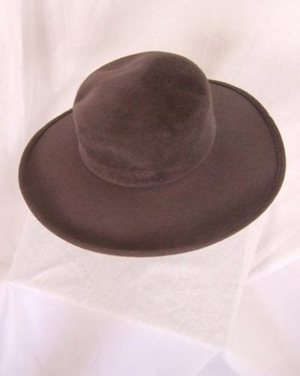 Frank Olive gray velour wide brim hat