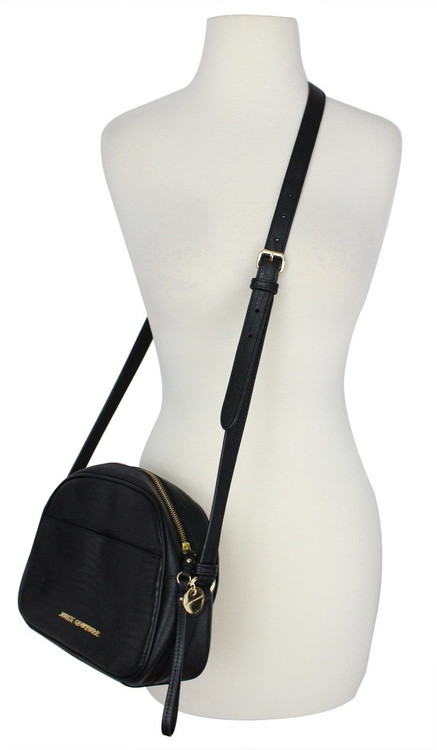 Juicy Couture Sophia Black Leather Shoulder Satchel