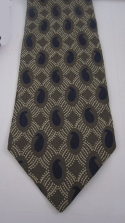 Giorgio Armani gray & blue paisley tie