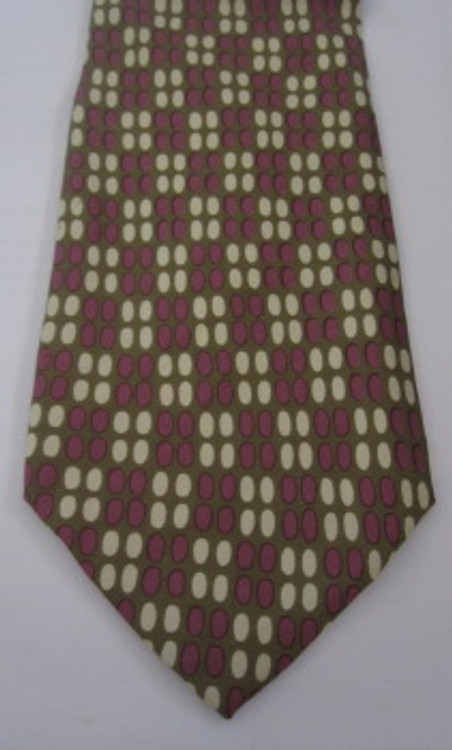 Hugo Boss Lavender, Cream and Olive Tie