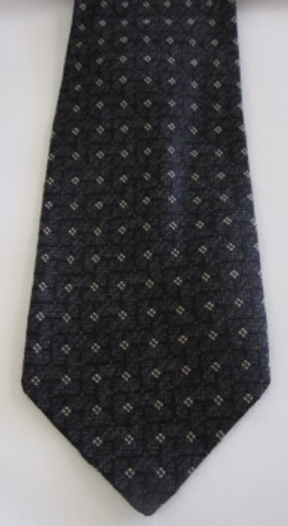 Joseph Aboud black & gray wool tie