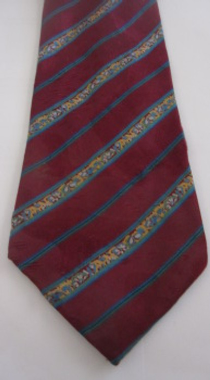 Lanvin Burgundy Striped Tie