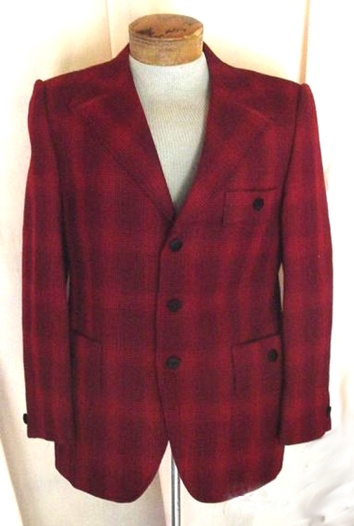 Men's Red & Black Retro Jacket
