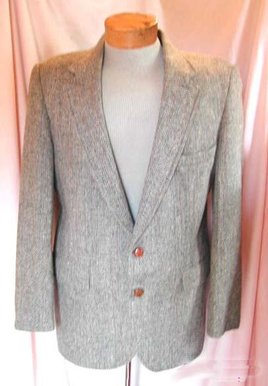 Levis Strauss & Co Vintage Gray Herringbone Jacket