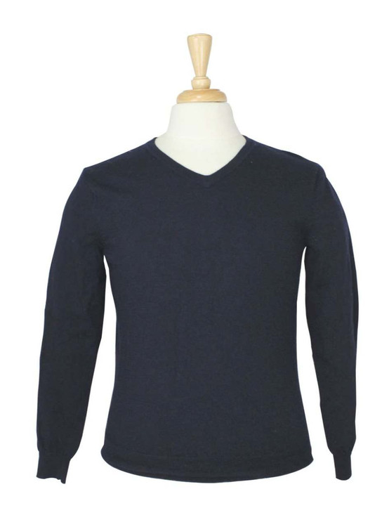 J. Crew Navy Blue V Neck Wool Sweater