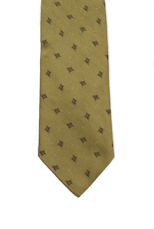 Ermenegildo Zegna Yellow Brocade Wide Tie