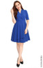Tuxedo Flare Dress - Blue