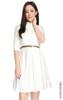 Classic Mid Sleeve Shirt Dress - White